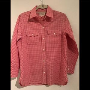 CURRENT/ELLIOTT The perfect shirt red gingham 1 S
